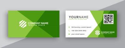 Fototapete modern business card design . double sided business card design template . flat gradation business card inspiration