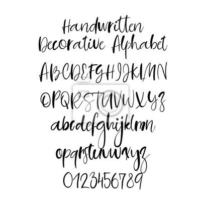 Modern Calligraphy Alphabet Handwritten Brush Letters Uppercase