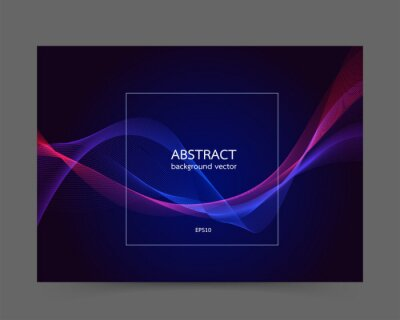 Modern colored poster line background vector.