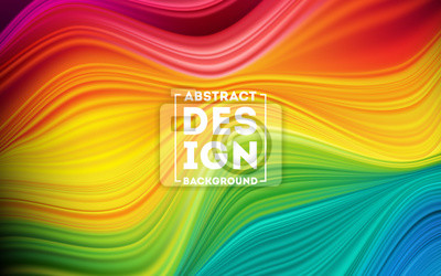 Fototapete Modern colorful flow poster. Wave Liquid shape color background. Art design for your design project. Vector illustration EPS10