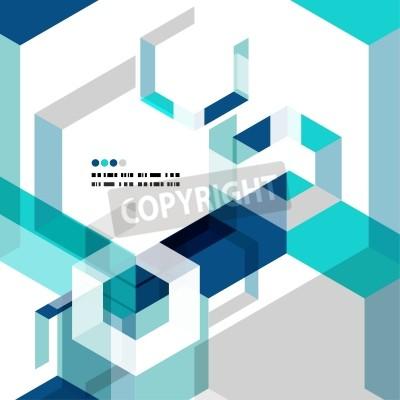 Fototapete Modern geometrical abstract vector template