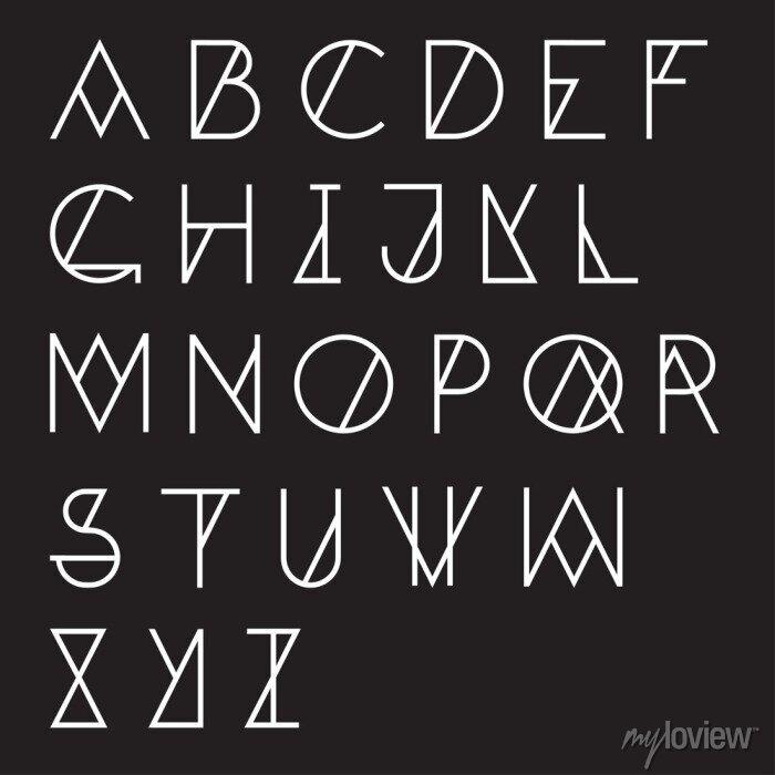 Fototapete Modern geometrische Alphabet