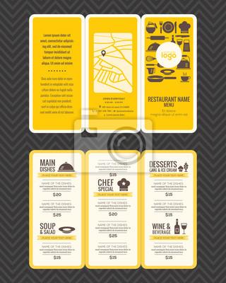 Restaurant Menu Design Templates | Modern Restaurant Menu Design Pamphlet Template Fototapete