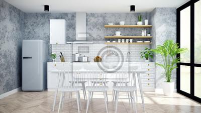 Modern Und Loft Küche Speisekammer Esszimmer Weiße Moderne