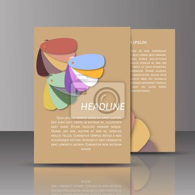 Modern vector abstract broschüre / buch / flyer design-vorlage ...