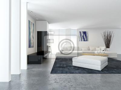 Modern Weiss Wohnzimmer Mit Kamin Fototapete Fototapeten Appartment