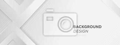 Fototapete Modern white gray abstract web banner background creative design