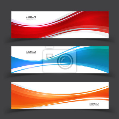 Moderne abstrakte Banner Vektor-Design. Set von Vektor-Design-Elemente.
