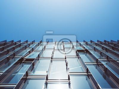 Moderne Architektur Glaswand Gebaude Abstrakt Hintergrund Fototapete