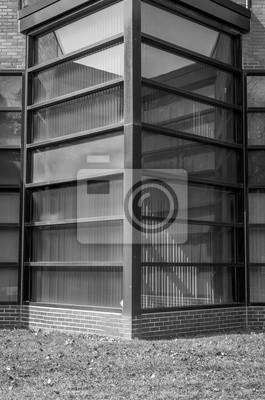 Fototapete Moderne Architektur Schwarz Und Weiss Beton Glas Zusammenfassung Architektonische Gestaltung Kunstlerisches