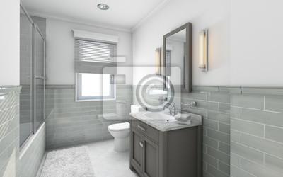 Fototapete: Moderne badezimmer in landhaus