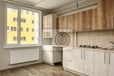 Beige Küche | Moderne Beige Kuche Fototapete Fototapeten Myloview De