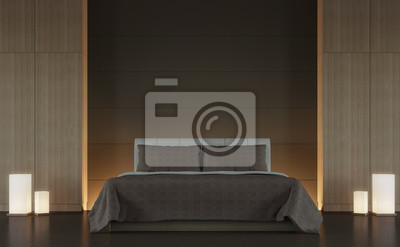 Wunderbar Fototapete Moderne Braune Schlafzimmer Interieur Minimal Stil 3d Rendering  Bild, Gibt Es Minimalistischen Stil Verzieren