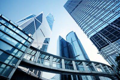 Fototapete Moderne Bürogebäude in Hong Kong.