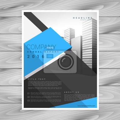 Moderne Business Broschüre Design Vorlage In Blau Schwarz