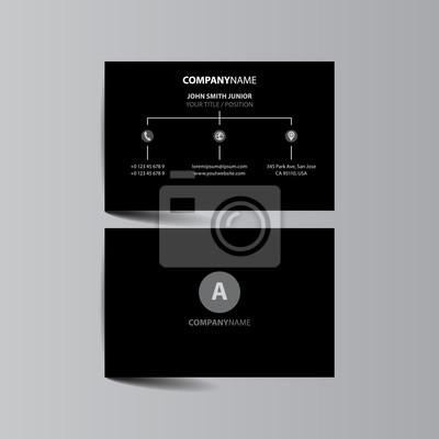 Moderne Einfache Helle Visitenkarte Schablone Visitenkarte