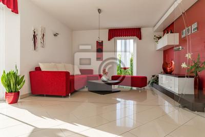Fototapete Moderne Einrichtung In Einem Wohnzimmer