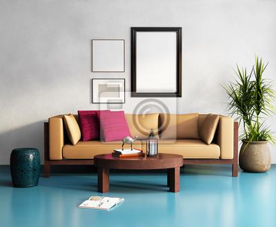 Fototapete Moderne Elegante Beige Sofa, Frisch Marokkanischen Wohnzimmer