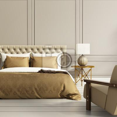 Moderne elegante luxus gold und grau schlafzimmer fototapete ...