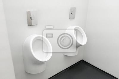 Fototapete: Moderne europäische männer zimmer, männer urinal öffentliche