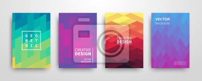 Fototapete Moderne futuristische abstrakte geometrische Abdeckungen eingestellt