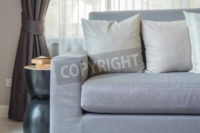 FototapeteModerne Mit Im Hause Kissen Wohnzimmer Graue Sofa Zu EDH29IYW