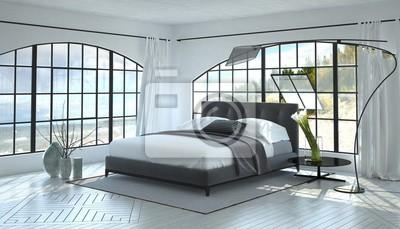Fototapete Moderne Helle Und Luftige Schlafzimmer Innenraum