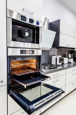 Moderne High Tech Kuche Backofen Mit Offener Tur Fototapete