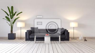 Fototapete Moderne Innenarchitektur Des Wohnzimmers 3D Render