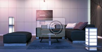 Hervorragend Fototapete Moderne Innenarchitektur Wohnzimmer (3d Render)