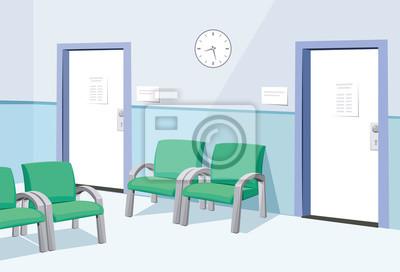 Moderne interieur beim arzt. warteraum im krankenhaus. private ...
