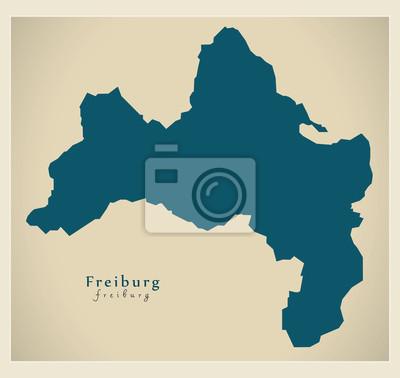 Freiburg Karte Stadtteile.Fototapete Moderne Karte Freiburg Stadt Von Deutschland De