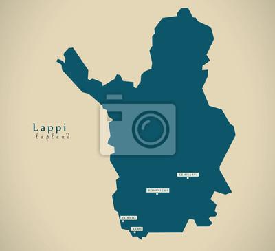 Lappland Karte.Fototapete Moderne Karte Lappland Finnland Fi Abbildung