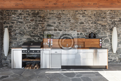 Fototapete Moderne Küche, im Freien