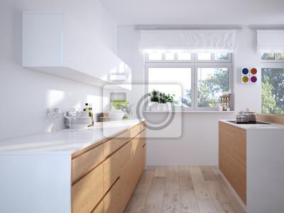 Moderne küche mit dekoration fototapete • fototapeten Glaser ...