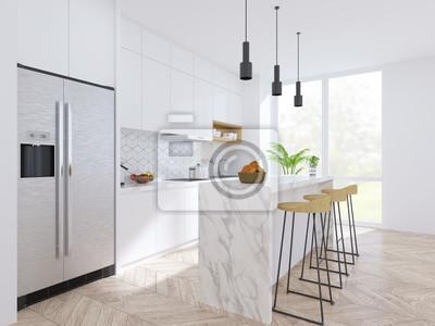 Moderne Küche Und Esszimmer Holzhocker Mit Mable Theke Und Moderne