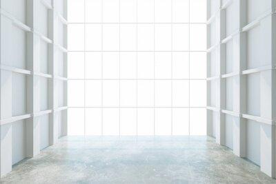 Fototapete Moderne leere Zimmer mit großem Fenster