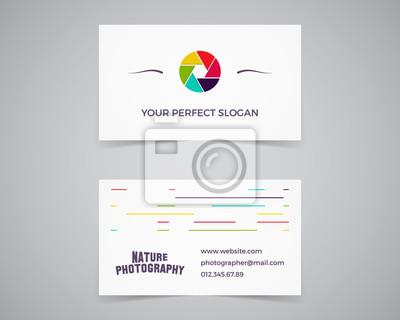 Moderne Licht Visitenkarte Vorlage Für Fotografie Studio