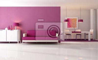 Lila Wohnzimmer, moderne lila wohnzimmer fototapete • fototapeten lounge, bodenbelag, Design ideen