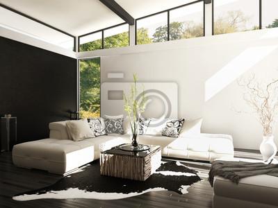 Fototapete Moderne Loft Mit Wohnzimmer   Innenarchitektur