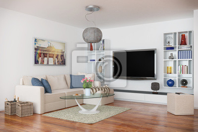 moderne penthouse wohnung, moderne, luxuriöse penthouse-wohnung mit einem wohnzimmer, Design ideen