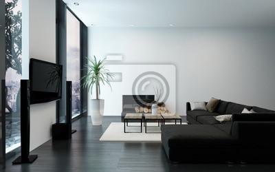 Fototapete Moderne Luxuswohnung Mit Kamin
