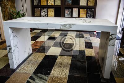 Moderne Marmor Kuche Arbeitsplatte Insel Mit Stein Farbe Proben