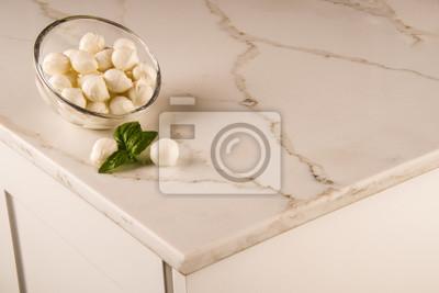 Fototapete Moderne Marmor Weiße Küche Arbeitsplatte. Weiße Carrara  Countertop