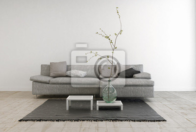 Moderne möbel im geräumigen wohnzimmer fototapete • fototapeten ...