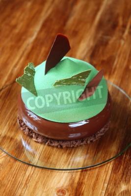 Moderne Multi Layered Mousse Kuchen Mit Schokolade Und Matcha
