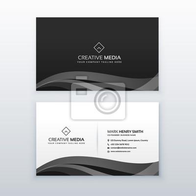 Moderne Professionelle Dunkle Visitenkarte Design Vorlage In