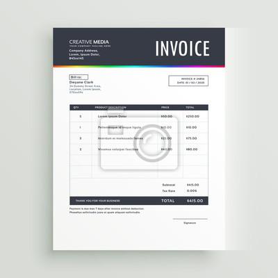 Moderne Rechnung Vorlage Formular Design Für Ihr Unternehmen