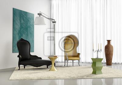 Moderne stilvolle luxus-interieur, modernen wohnzimmer fototapete ...