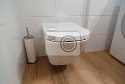 Moderne toilette im badezimmer interieur fototapete • fototapeten ...